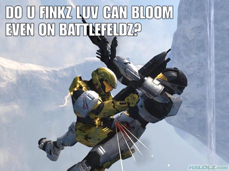 DO U FINKZ LUV CAN BLOOM EVEN ON BATTLEFELDZ?