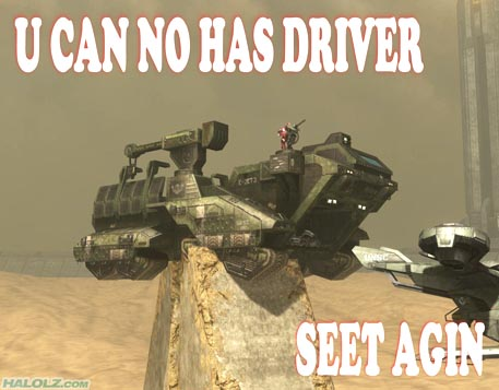 U CAN NO HAS DRIVER SEET AGIN