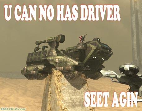 U CAN NO HAS DRIVER SEET AGIN