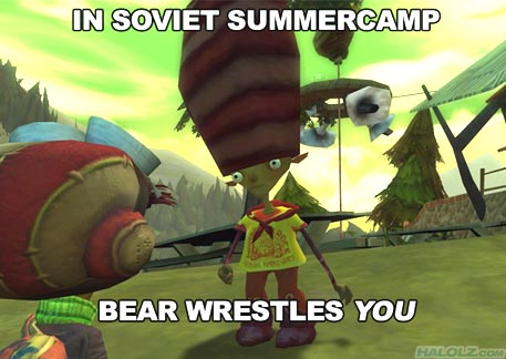 IN SOVIET SUMMERCAMP BEAR WRESTLES YOU
