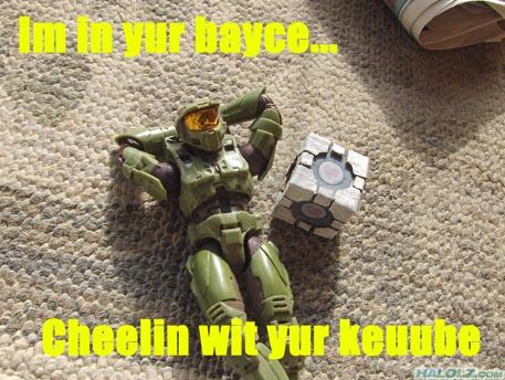 Im in yur bayce… Cheelin wit yur keuube