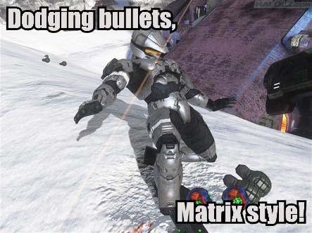 Dodging bullets, Matrix style!