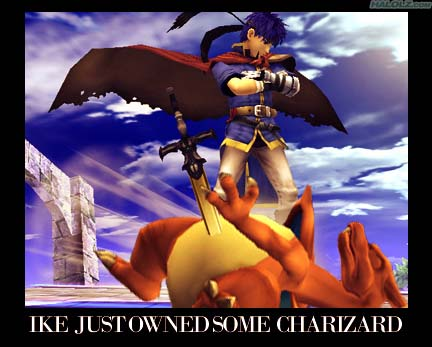 IKE JUST OWNED SOME CHARIZARD