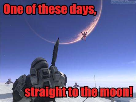 One of these days, straight to the moon!