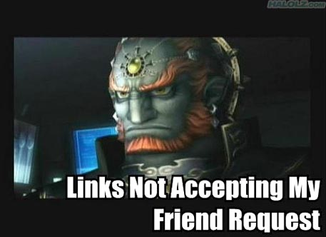 Links Not Accepting My Friend Request