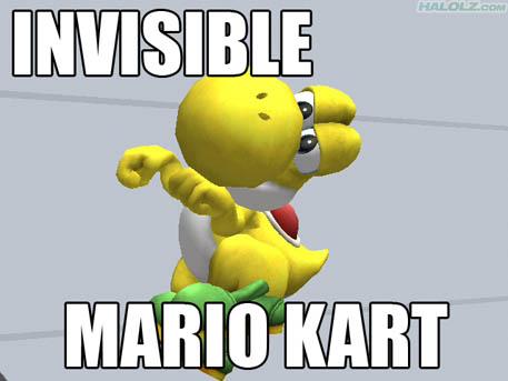 INVISIBLE MARIO KART