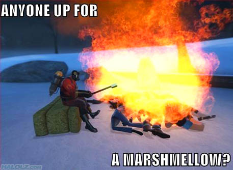 ANYONE UP FOR A MARSHMELLOW?