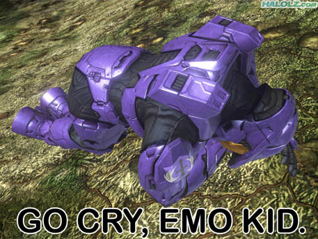 GO CRY, EMO KID.