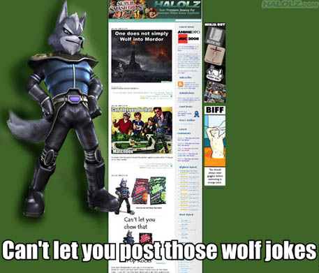 Can't let you post those wolf jokes