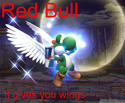 Red Bull… It gives you wings