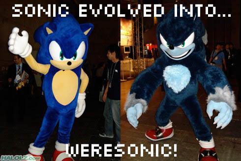 SONIC EVOLVED INTO… WERESONIC