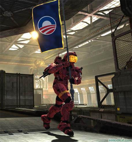 Obama Advertises in Halo 3