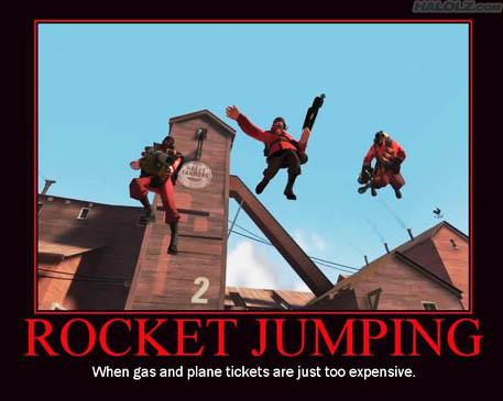 Star rocket jumping