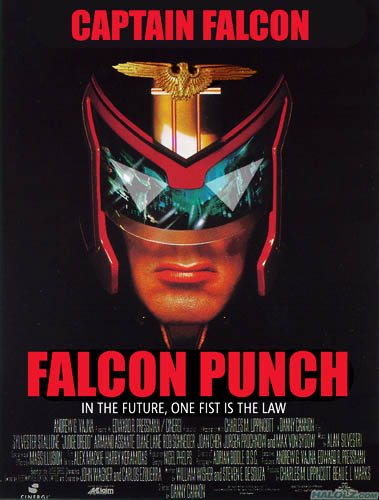 CAPTAIN FALCON - FALCON PUNCH - IN THE FUTURE, ONE FIST IS THE LAW