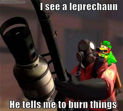 I see a leprechaun