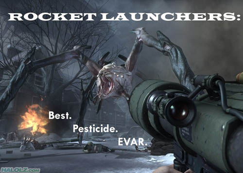 ROCKET LAUNCHERS: Best. Pesticide. EVAR.
