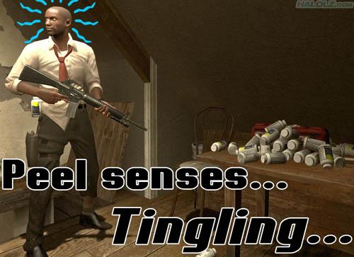 Peel senses… Tingling…