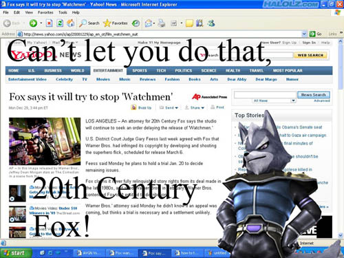 Can't let you do that, 20th Century Fox!
