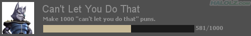 """Wolf TF2 Achievement - Can't Let You Do That - Make 1000 """"can't let you do that"""" puns."""