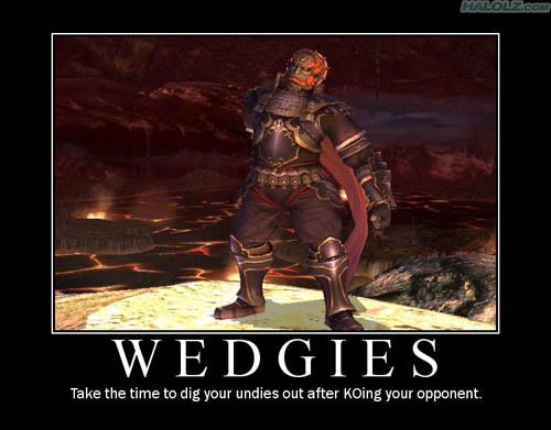 WEDGIES - Take the time to dig your undies out after KOing your opponent.