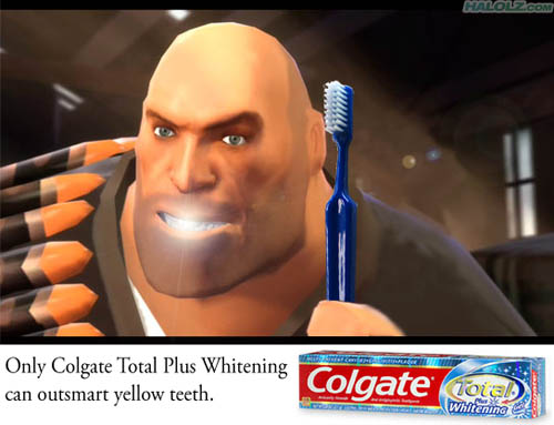 Only Colgate Total Plus Whitening can outsmart yellow teeth.