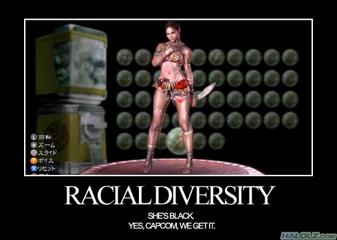 RACIAL DIVERSITY - SHE'S BLACK. YES, CAPCOM, WE GET IT.
