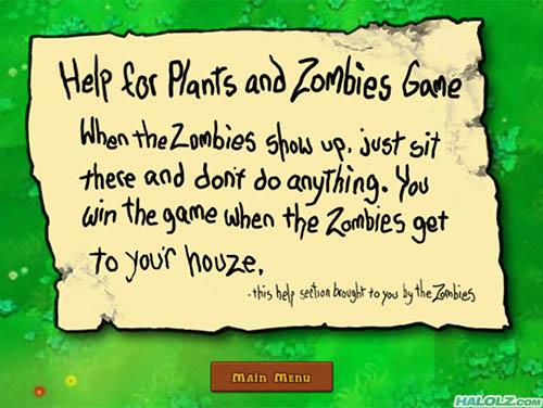 Help for Plants and Zombies Game