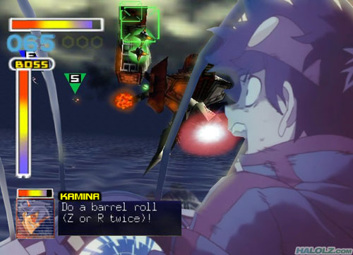 Gurren Lagann 64 - KAMINA: Do a barrel roll (Z or R twice)!