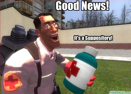 Good News! It's a Suppository!