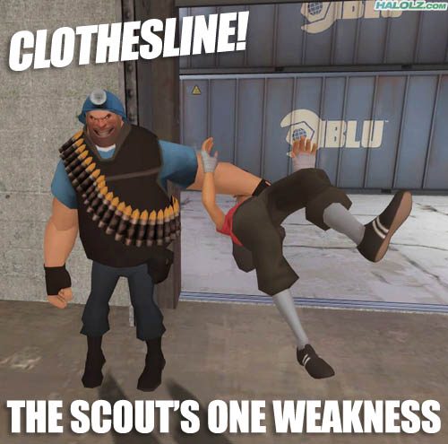 CLOTHESLINE! THE SCOUT'S ONE WEAKNESS