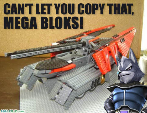 CAN'T LET YOU COPY THAT, MEGA BLOKS!