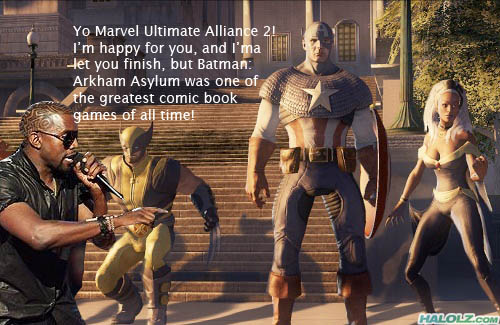 Yo Marvel Ultimate Alliance 2! I'm happy for you, and I'ma let you finish, but Batman: Arkham Asylum was one of the greatest comic book games of all time!
