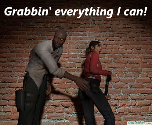 Grabbin' everything I can!