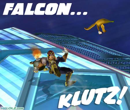 FALCON… KLUTZ!