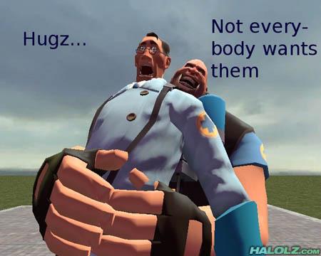 Hugz… Not everybody wants them