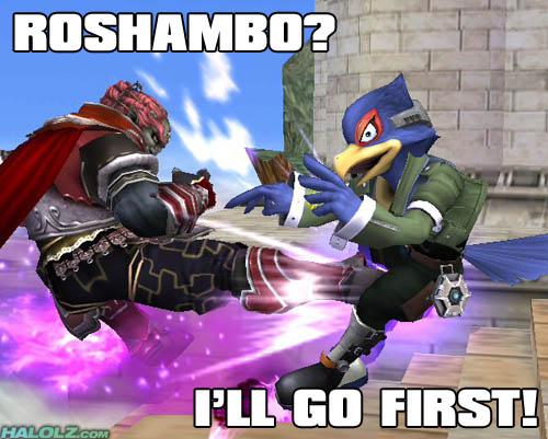 ROSHAMBO? I'LL GO FIRST!