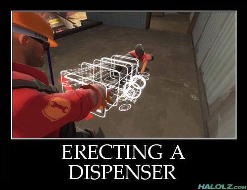 ERECTING A DISPENSER