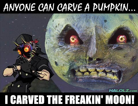 ANYONE CAN CARVE A PUMPKIN… I CARVED THE FREAKIN' MOON!