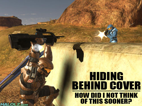 HIDING BEHIND COVER - HOW DID I NOT THINK OF THIS SOONER?