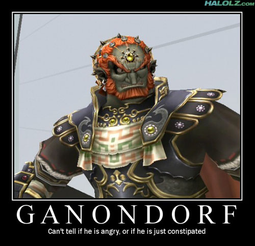GANONDORF - Can't tell if he is angry, or if he is just constipated