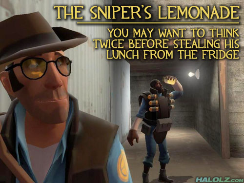 THE SNIPER'S LEMONADE - YOU MAY WANT TO THINK TWICE BEFORE STEALING HIS LUNCH FROM THE FRIDGE