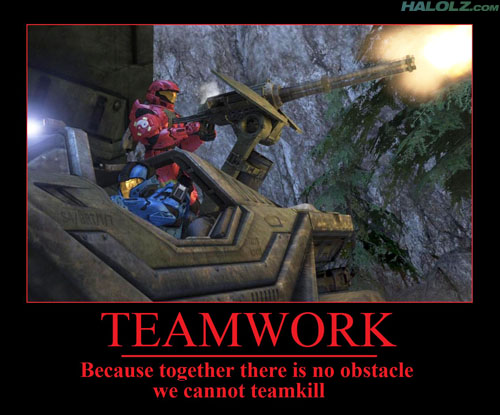 TEAMWORK - Because together there is no obstacle we cannot teamkill