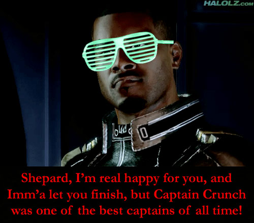 Shepard, I'm real happy for you, and Imm'a let you finish, but Captain Crunch was one of the best captains of all time!