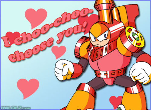 Mega Man Valentine's Day Cards