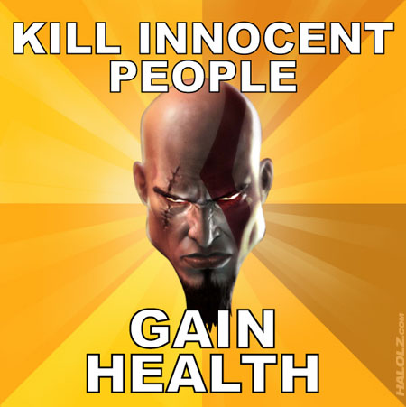 KILL INNOCENT PEOPLE, GAIN HEALTH