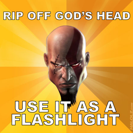 RIP OFF GOD'S HEAD USE IT AS A FLASHLIGHT