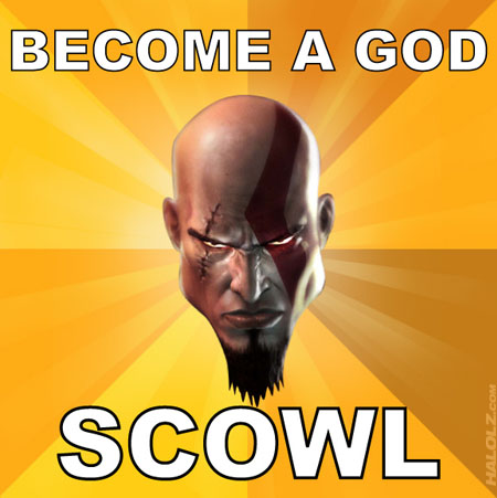 BECOME A GOD, SCOWL
