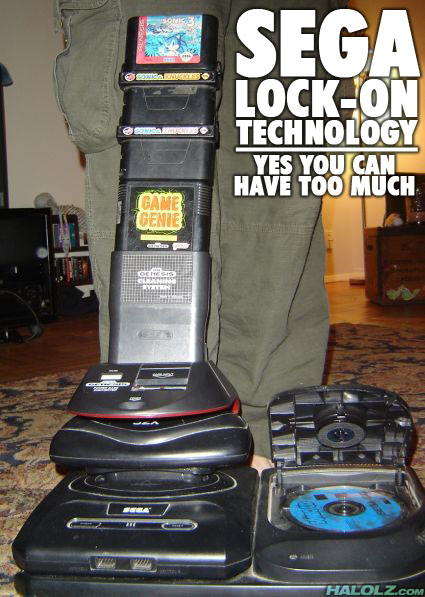 SEGA LOCK-ON TECHNOLOGY - YES YOU CAN HAVE TOO MUCH