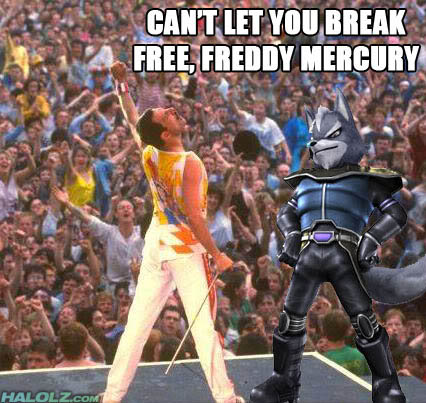 CAN'T LET YOU BREAK FREE, FREDDY MERCURY