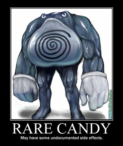 RARE CANDY - May have some undocumented side effects.